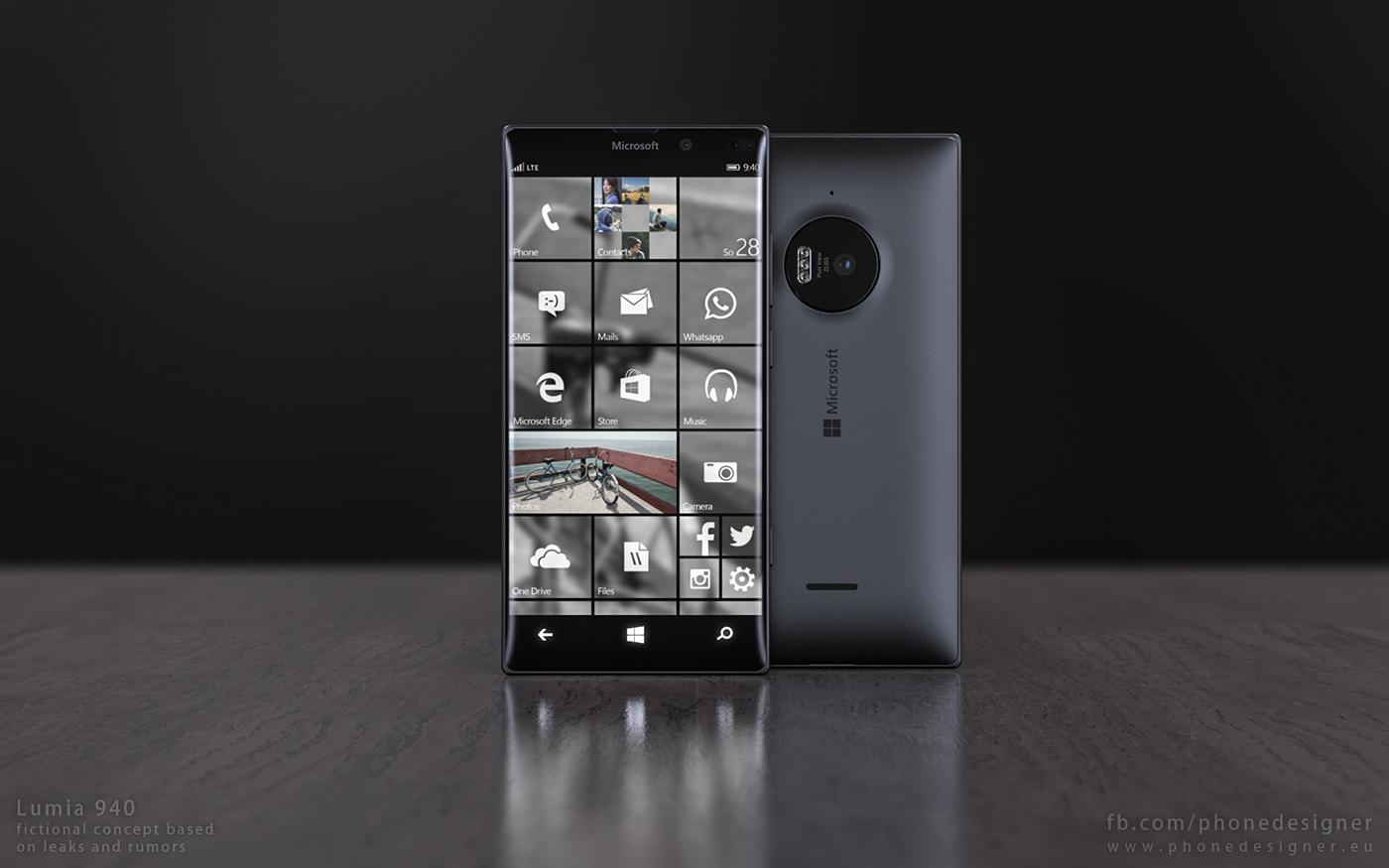 Koncept Lumii 940 sprawia, że mobilna wersja Windowsa 10 staje się niezwykle pożądaną